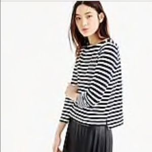 J. Crew XS Midweight striped boatneck T-shirt